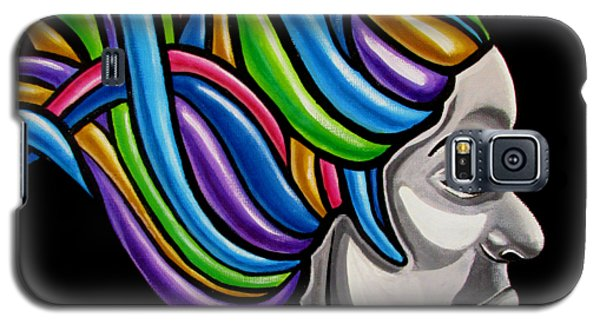 Colorful Abstract Black Woman Face Hair Painting Artwork - African Goddess Galaxy S5 Case