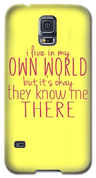 My Own World Galaxy S5 Case