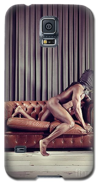Naked Man With Mask On A Sofa Galaxy S5 Case