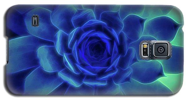 Neon Blue Sempervivum Galaxy S5 Case