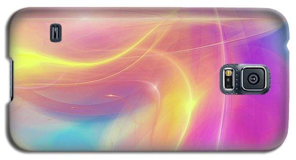 Neon Light  Cosmic Rays Galaxy S5 Case