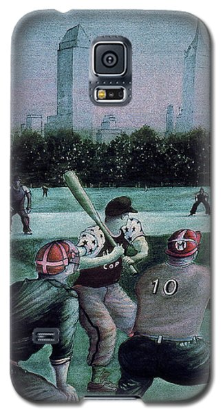 New York Central Park Baseball - Watercolor Art Painting Galaxy S5 Case