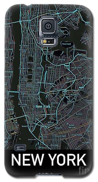 New York City Map Black Edition Galaxy S5 Case