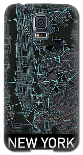 New York City Map Black Edition Galaxy S5 Case