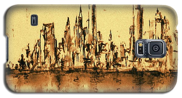 New York City Skyline 79 - Water Color Drawing Galaxy S5 Case