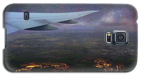 Night Flight Over City Lights Galaxy S5 Case