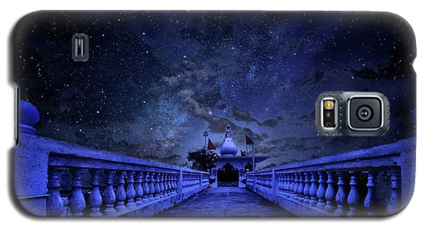 Night Sky Over The Temple Galaxy S5 Case