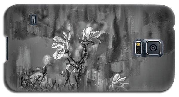 Magnolia Galaxy S5 Case - no rain no flowers BW #i6 by Leif Sohlman
