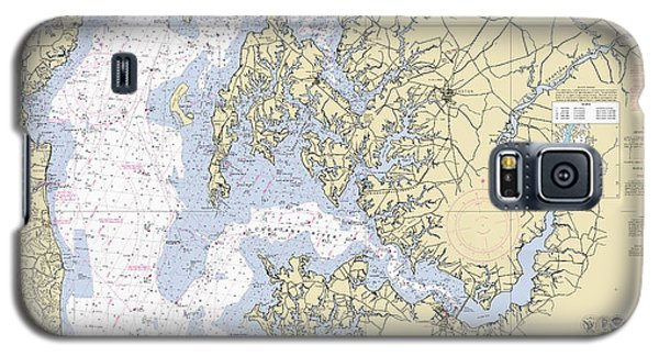 Chesapeake Bay, Cove Point To Sandy Point Nautical Chart 12263 Galaxy S5 Case