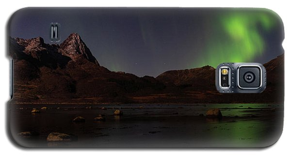 Northern Lights Aurora Borealis In Norway Galaxy S5 Case