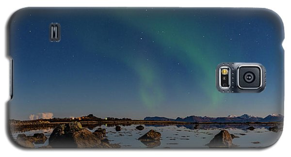 Northern Lights Over A Swamp  Galaxy S5 Case