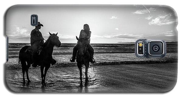 Ocean Sunset On Horseback Galaxy S5 Case