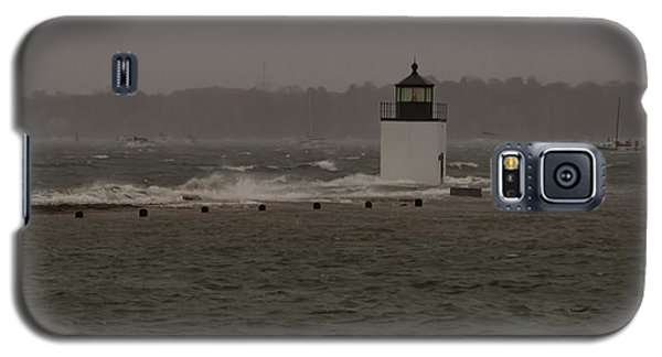 October Storm At Derby Wharf Lighthouse Galaxy S5 Case