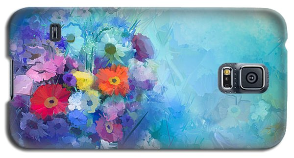 Branch Galaxy S5 Case - Oil Painting Flowers In Vase. Hand by Pluie r