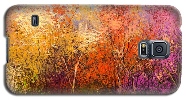 Branch Galaxy S5 Case - Oil Painting Landscape - Colorful by Pluie r