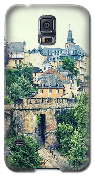 old city Luxembourg from above Galaxy S5 Case