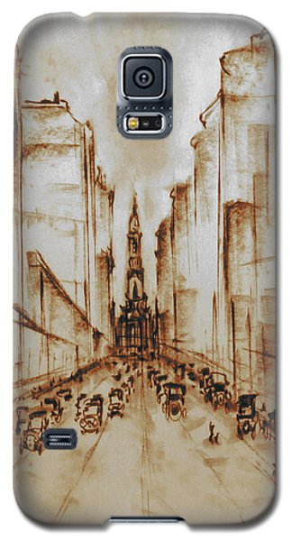 Old Philadelphia City Hall 1920 - Pencil Drawing Galaxy S5 Case