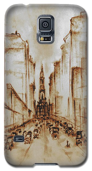 Old Philadelphia City Hall 1920 - Pencil Drawing Galaxy S5 Case