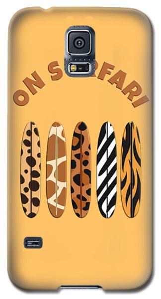 On Surfari Animal Print Surfboards  Galaxy S5 Case