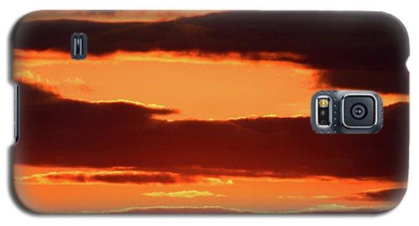 Orange And Black Galaxy S5 Case
