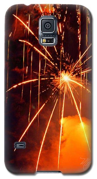 Orange Fireworks Galaxy S5 Case