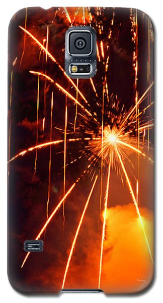 Orange Fireworks Galaxy S5 Case