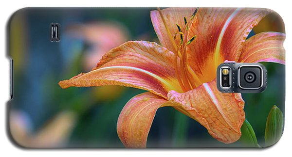 Orange Lily Detailed Petals Galaxy S5 Case