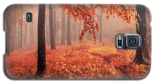 Orange Wood Galaxy S5 Case