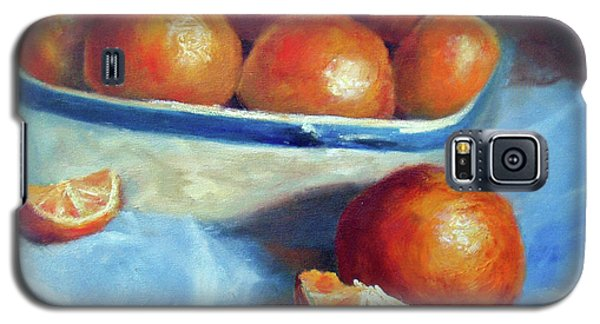 Oranges And Blue Galaxy S5 Case