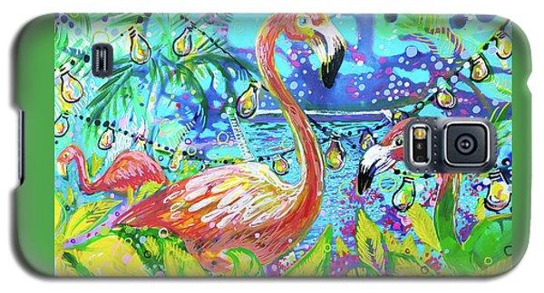 Outdoor Flamingo Party Galaxy S5 Case