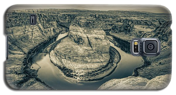 Over The Edge Of Horseshoe Bend - Sepia Edition Galaxy S5 Case