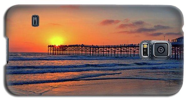 Pacific Beach Pier Sunset Galaxy S5 Case