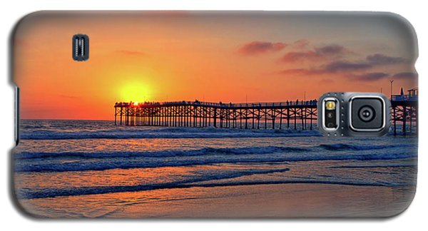 Pacific Beach Pier Sunset Galaxy S5 Case