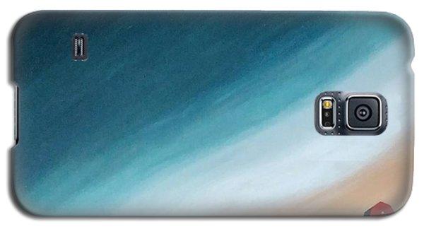 Pacific Ocean And Red Umbrella Galaxy S5 Case