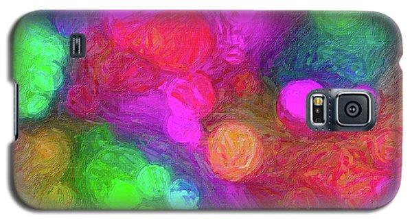 Painted Bokeh Impasto Pinkish Purple Galaxy S5 Case