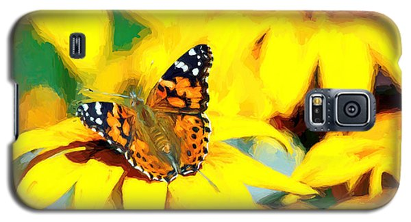 Painted Lady Butterfly Van Gogh Galaxy S5 Case