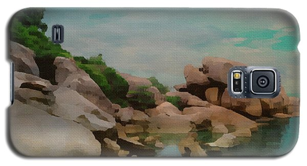Painted Rocks At Full Tide Galaxy S5 Case