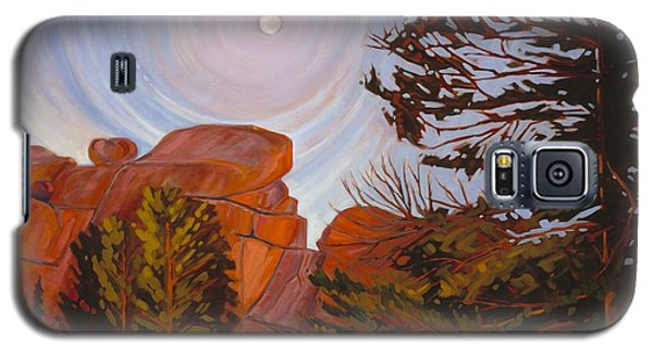 Pale Moon Over Vedauwoo Galaxy S5 Case