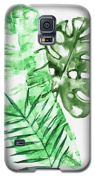 Palm Leaves-banana, Coconut, Monstera Galaxy S5 Case