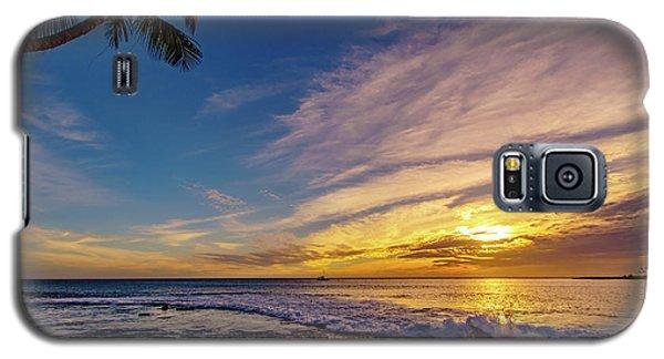 Palm Wave Sunset Galaxy S5 Case