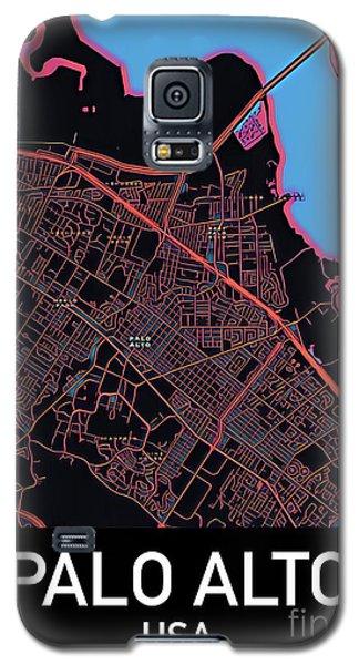 Palo Alto City Map Galaxy S5 Case