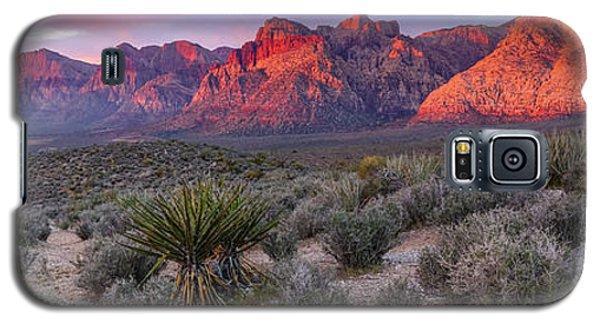 Panorama Of Rainbow Wilderness Red Rock Canyon - Las Vegas Nevada Galaxy S5 Case
