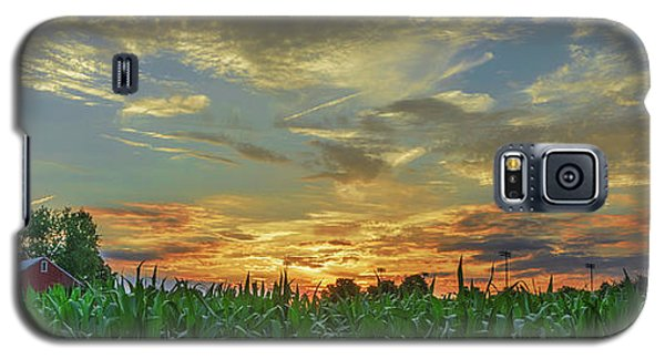 Panoramic Cornfield Sunset Galaxy S5 Case