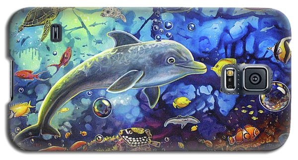 Past Memories New Beginnings Dolphin Reef Galaxy S5 Case