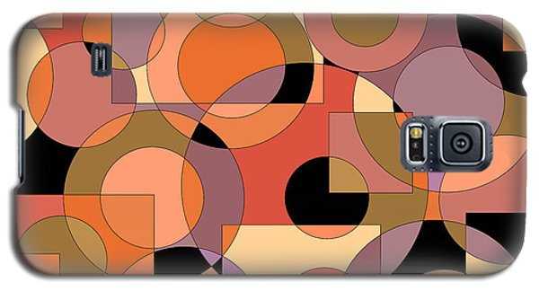 Peach Circle Abstract Galaxy S5 Case