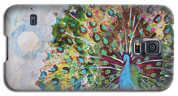 Peacock In Morning Mist Galaxy S5 Case
