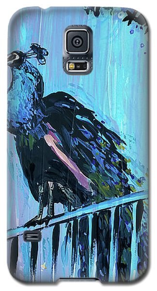 Peacock On A Fence Galaxy S5 Case