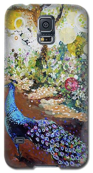 Peacock On Path Galaxy S5 Case