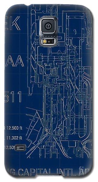 Pek Beijing Capital Airport Blueprint Galaxy S5 Case