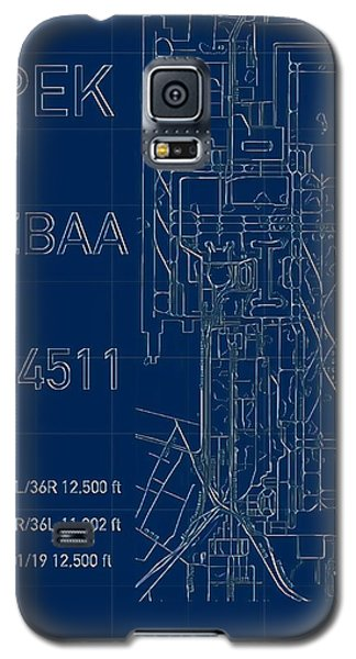 Pek Beijing Capital Airport Blueprint Galaxy S5 Case